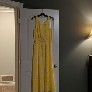Ann Taylor yellow maxi dress
